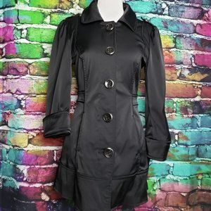 Guess Classic Urban Black Short Trench Coat